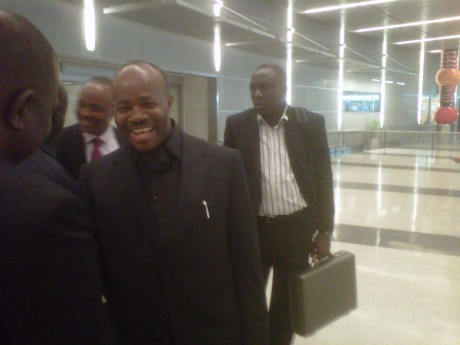 At about 2.30pm August 4, 2011, Gov. Godswill Akpabio arrived Houston, Texas for the Akwa Ibom Town Hall Meeting